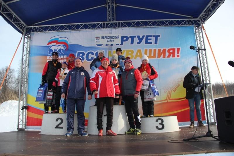 В Чебоксарах состоялись соревнования по лыжным гонкам среди спортивных семей на призы Главы Чувашии и массовый лыжный забег